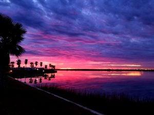galveston bay rv resort marina sunset